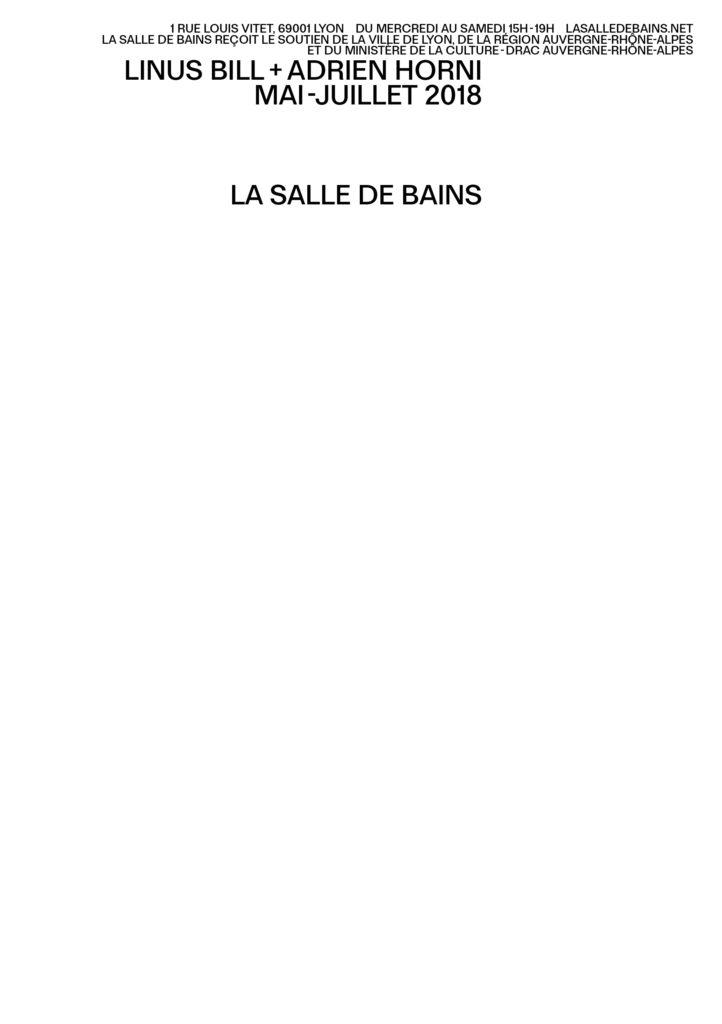 Linus Bill + Adrien Horni, La Salle de bains