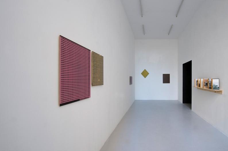 Øystein Aasan  Stripe Paintings Vue d'exposition, La Salle de Bains, Lyon