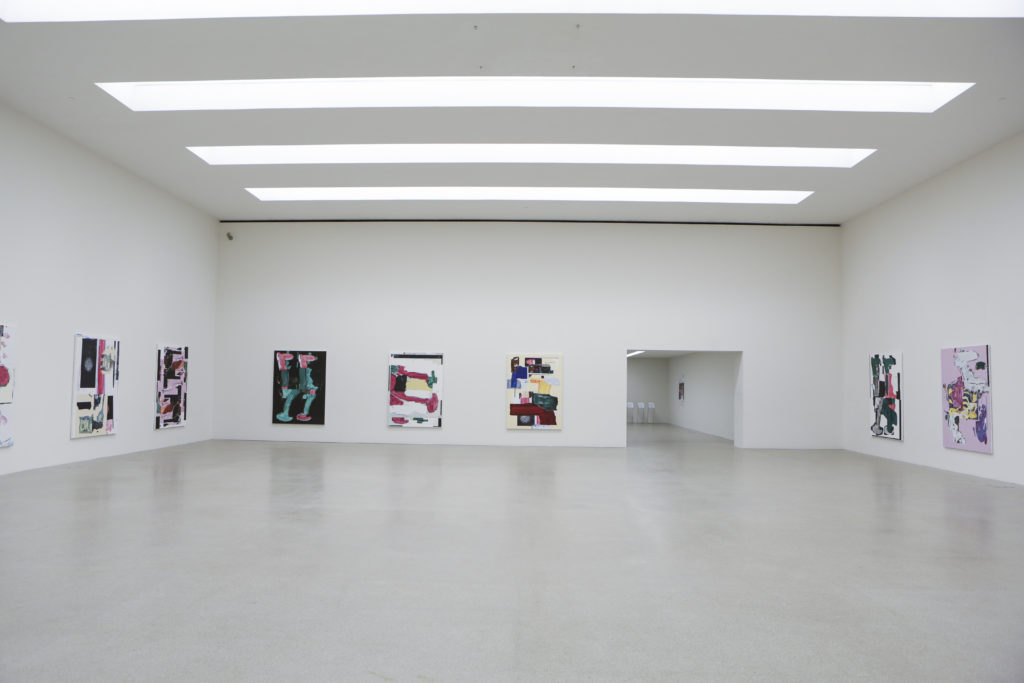 Linus Bill + Adrien Horni, Heredity Paintings, Pasquart Kunsthaus Centre d'Art, Bienne, 2018 photo : Julie Lovens
