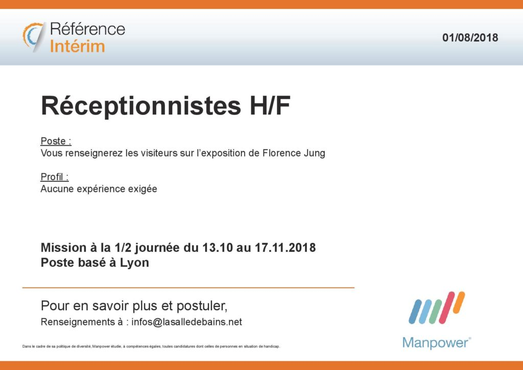 Annonce Manpower Florence Jung