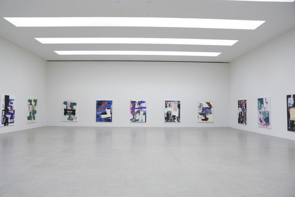 Linus Bill + Adrien Horni, Heredity Paintings, Pasquart Kunsthaus Centre d'Art, Bienne, 2018 photo : Julie Lovens