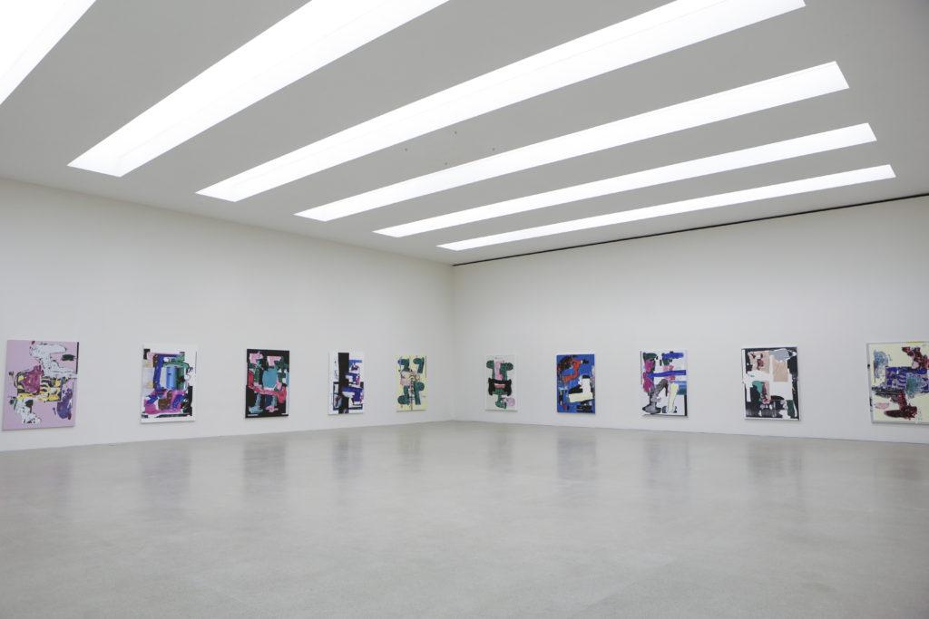 Linus Bill + Adrien Horni, Heredity Paintings, Pasquart Kunsthaus Centre d'Art, Bienne, 2018 photo : Julie LovensBill_Adrian_Horni_6